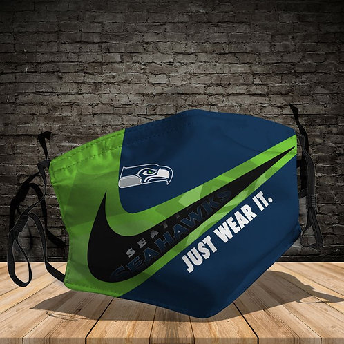 OFFICIAL-SEATTLE-SEAHAWKS-TEAM-PROTECTIVE-FACE-MASK/CUSTOM-3D-PRINTED DESIGNED!!