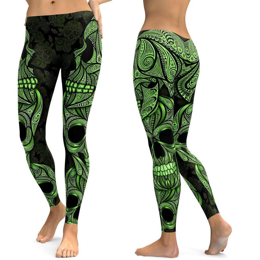 28b60188 LI-FI Tribal-3D-Skull Legging/Womens Fitness Sport Style Casual Premium  Leggings