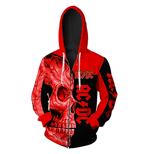 OFFICIAL-AC/DC CLASSIC-ROCK-BAND-ZIPPERED-HOODIES/NEW-CUSTOM-3D-PRINTED-DESIGN!!