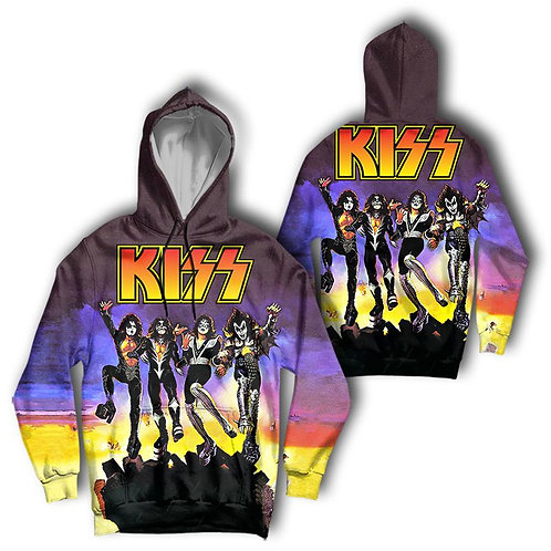 OFFICIAL-KISS-LIVE-IN CONCERT-PULLOVER-HOODIE/CUSTOM-3D-GRAPHIC-PRINTED-DESIGN!!