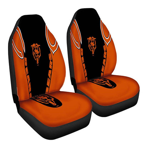 OFFICIAL-N.F.L.CHICAGO-BEARS-TEAM-CAR-SEAT-COVERS/CUSTOM-3D-DESIGN-BEARS-LOGOS!!