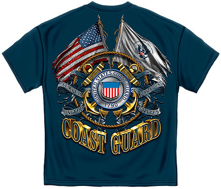 OFFICIAL-COAST-GUARD-VETERAN/SEMPER-PARARTUS-NEW-3D-CUSTOM-GRAPHIC-PRINTED-TEES!