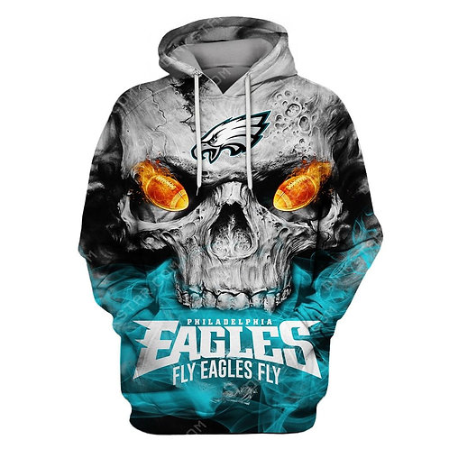 OFFICIAL-N.F.L.PHILADELPHIA-EAGLES-PULLOVER-HOODIES/NEW-CUSTOM-3D-FLY-EAGLES-FLY