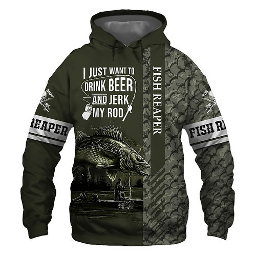 OFFICIAL-WALLEYE-FISHING-PULLOVER-HOODIES/NEW-CUSTOM-3D-PRINTED-THE-FISH-REAPER!