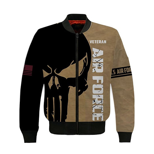 OFFICIAL-U.S.AIR-FORCE-VETERAN-PULLOVER-HOODIES/CUSTOM-3D-PRINTED-PUNISHER-SKULL