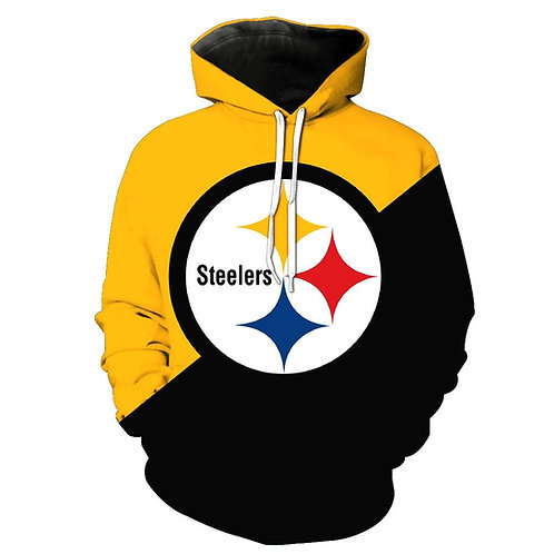 *OFFICIAL-N.F.L.PITTSBURGH-STEELERS-PULLOVER-HOODIES/3D-CUSTOM-GRAPHIC-PRINTED*