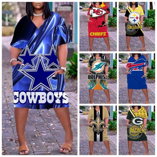 NFL.TEAM WOMENS POCKET DRESSES