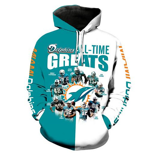 OFFICIAL-N.F.L.MIAMI-DOLPHINS-TEAM-PULLOVER-HOODIE/NEW-CUSTOM-3D-DOLPHINS-GREATS