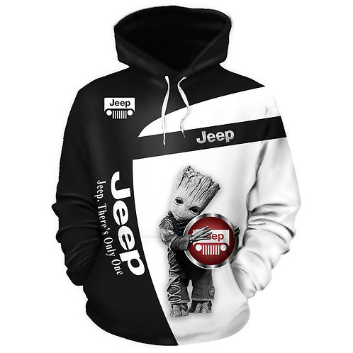 OFFICIAL-JEEP-GROOT-PULLOVER-HOODIES/NEW-3D-CUSTOM-PRINTED-DOUBLE-SIDED-HOODIES!