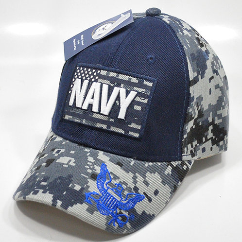 OFFICIALLY-LICENSED-U.S.NAVY & FLAG-DIGITAL-CAMO.VETERANS-HAT/3D-CUSTOM-GRAPHICS