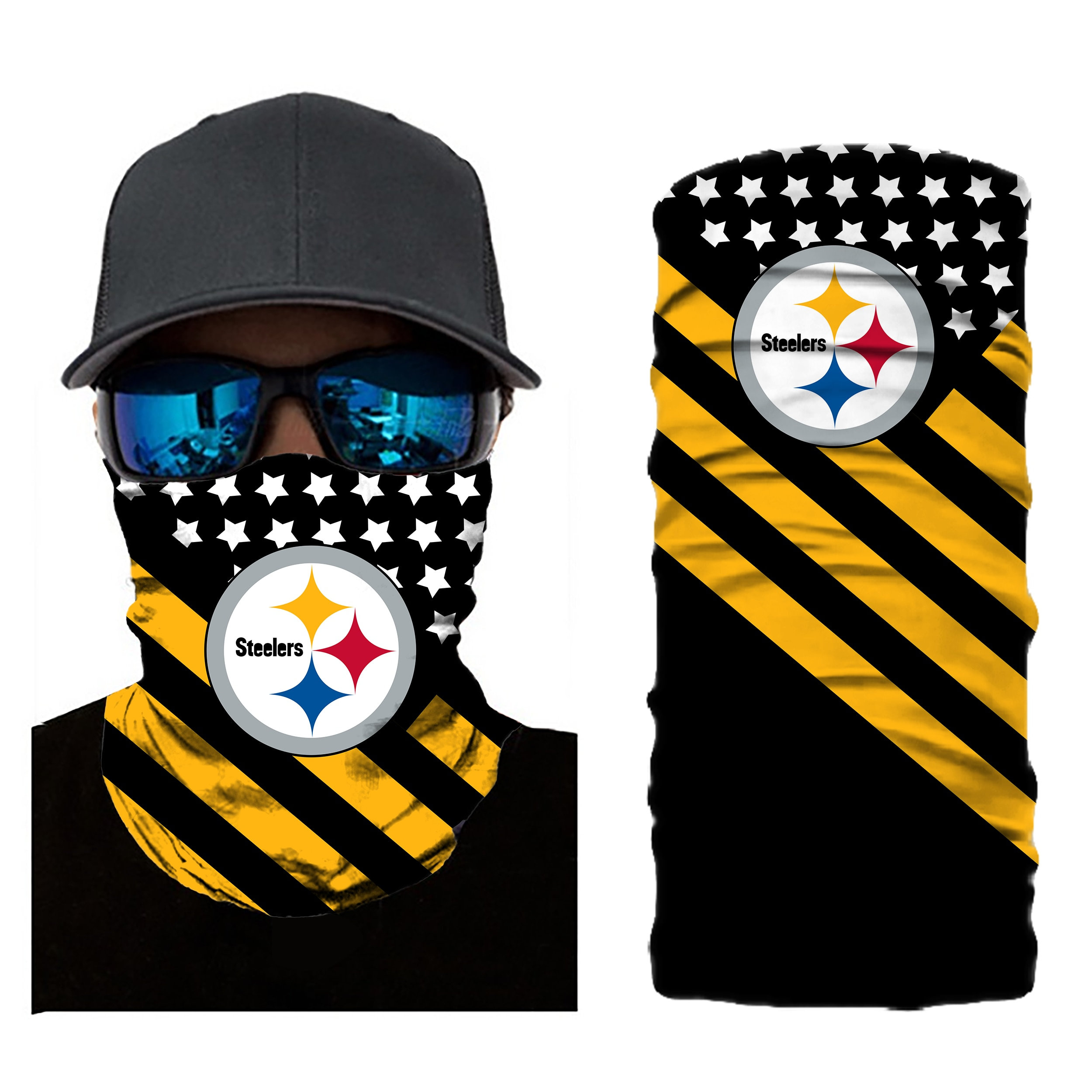 Steelers Kids Neck Gaiter Summer Bandana Cool mask Face Covering for Outdoors Sports Running mask