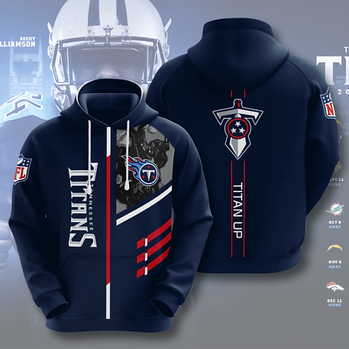 OFFICIAL-N.F.L.TENNESSEE-TITANS-TEAM-PULLOVER-HOODIES/CUSTOM-3D-TITAN-UP-DESIGN!