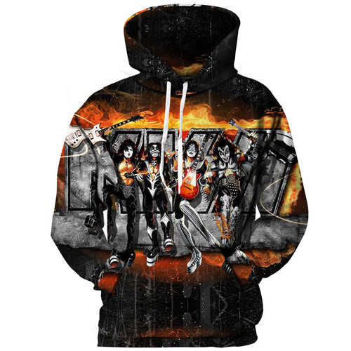 0ff42d4f *OFFICIAL-NEW-KISS-ROCK-BAND-MEMBERS/3D-CUSTOM-GRAPHIC-PRINTED-PULLOVER- HOODIES*