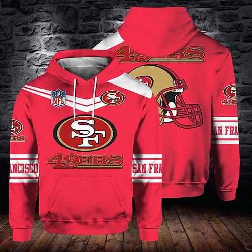 OFFICIAL-N.F.L.SAN-FRANCISCO-49ERS-PULLOVER-HOODIE/NEW-CUSTOM-3D-GRAPHIC-DESIGN!