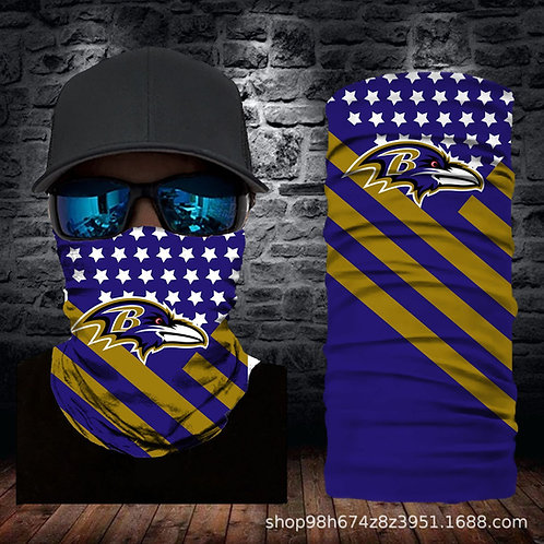 OFFICIAL-N.F.L.BALTIMORE-RAVENS-FACE & GAITER-NECK-SCARFS/MULTI-USE-SPORT-MASK!!