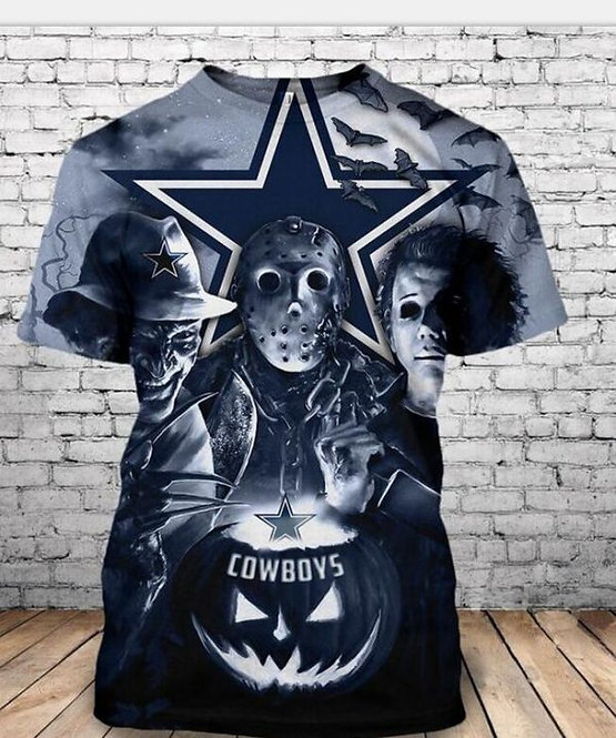 OFFICIAL-N.F.L.DALLAS-COWBOYS-TEAM-TEES/CLASSIC-HALLOWEEN-HORROR-MOVIE-DESIGNED!