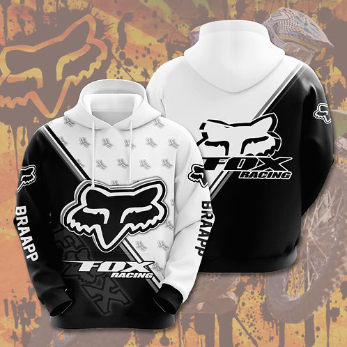 OFFICIAL-FOX-RACING-PULLOVER-HOODIES & BRAAPP/CUSTOM-3D-GRAPHIC-PRINTED-DESIGN!!