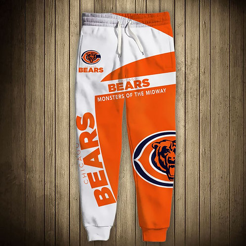 OFFICIAL-N.F.L.CHICAGO-BEARS-TEAM-SWEAT-PANTS/CUSTOM-3D-MONSTERS-OF-THE-MIDWAY!!