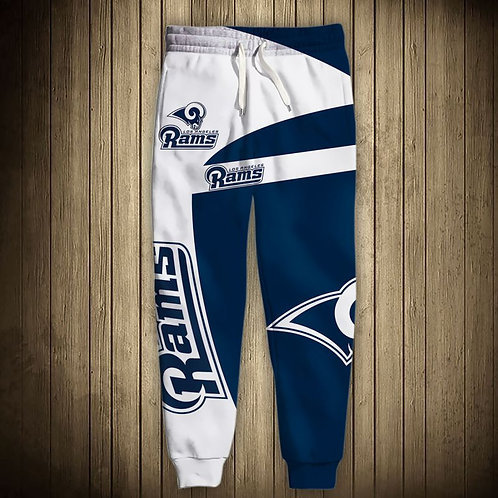 OFFICIAL-N.F.L.LOS-ANGELES-RAMS-TEAM-SWEAT-PANTS/CUSTOM-3D-GRAPHIC-PRINT-DESIGN!