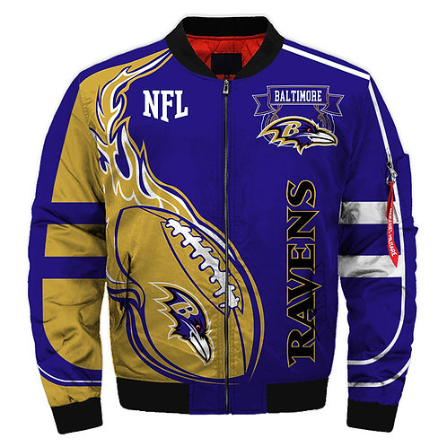 OFFICIAL-N.F.L.BALTIMORE-RAVENS-JACKET/WARM-PREMIUM-NEW-CUSTOM-3D-GRAPHIC-DESIGN