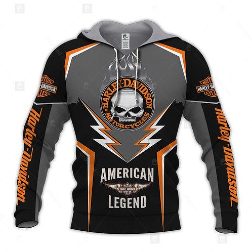 HARLEY-DAVIDSON-MOTORCYCLE-BIKER-PULLOVER-HOODIE/CUSTOM-HARLEY-AMERICAN-LEGEND!!