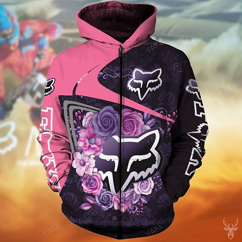 OFFICIAL-WOMENS-FOX-RACING-ZIPPERED-HOODIES/NEW-CUSTOM-3D-GRAPHIC-PRINTED-DESIGN