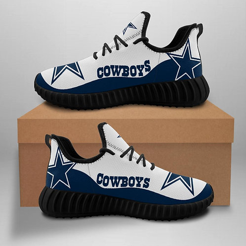 OFFICIAL-DALLAS-COWBOYS-TEAM-BLACK-SPORT-SHOES/CUSTOM-3D-DESIGN-COWBOYS-LOGOS!!