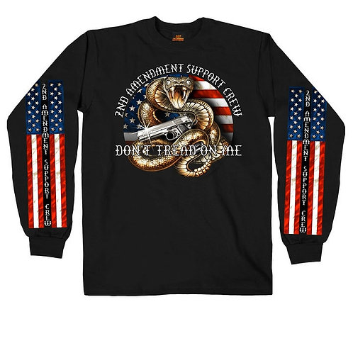 OFFICIAL-2ND-AMENDMENT/SUPPORT-CREW & DON'T-TREAD-ON-ME-CUSTOM-3D-PRINTED-TEES!