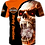 Thumbnail: OFFICIAL-HARLEY-DAVIDSON-BIKERS-TEE-SHIRT/CUSTOM-3D-GRAPHIC-PRINTED-FANGED-SKULL