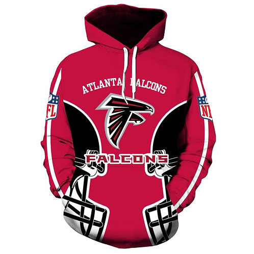 **(NEW-OFFICIALLY-LICENSED-N.F.L.ATLANTA-FALCONS-TRENDY-PULLOVER-TEAM-HOODIES)**