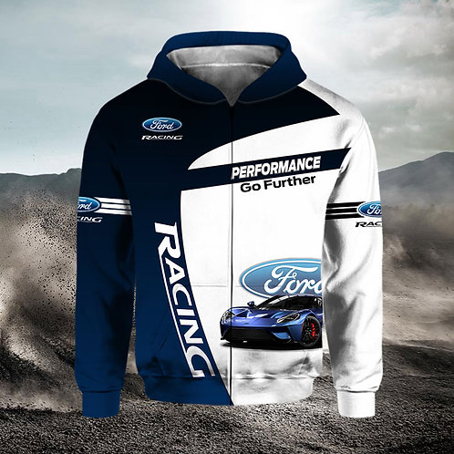 OFFICIAL-NEW-FORD-ZIPPERED-HOODIES/CUSTOM-3D-GRAPHIC-PRINTED-DOUBLE-SIDED-DESIGN