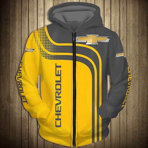 OFFICIAL-CHEVY-ZIPPERED-HOODIES/CUSTOM-3D-GRAPHIC-PRINTED-DOUBLE-SIDED-HOODIES!