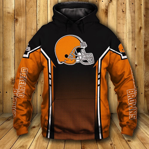 OFFICIAL-N.F.L.CLEVELAND-BROWNS-TEAM-PULLOVER-HOODIE/CUSTOM-3D-BROWNS-TEAM-LOGOS