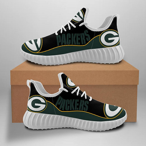 OFFICIAL-GREEN-BAY-PACKERS-TEAM-WHITE-SPORT-SHOES/CUSTOM-3D-DESIGN-PACKERS-LOGOS