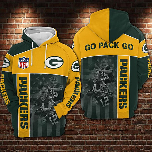 OFFICIAL-N.F.L.GREEN-BAY-PACKERS-PULLOVER-HOODIES/BIG-CUSTOM-3D-SKULL-GO-PACK-GO