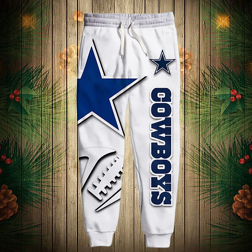 OFFICIAL-N.F.L.DALLAS-COWBOYS-TEAM-SWEAT-PANTS/CUSTOM-3D-GRAPHIC-PRINTED-DESIGN!