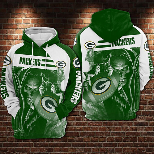 OFFICIAL-N.F.L.GREEN-BAY-PACKERS-PULLOVER-TEAM-HOODIES/NEW-CUSTOM-3D-GRIM-REAPER