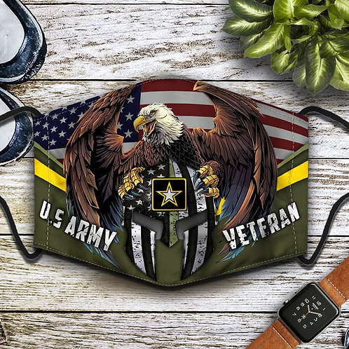 OFFICIAL-U.S.ARMY-VETERANS-PROTECTIVE-FACE-MASK/ALL-NEW-CUSTOM-3D-PRINTED DESIGN
