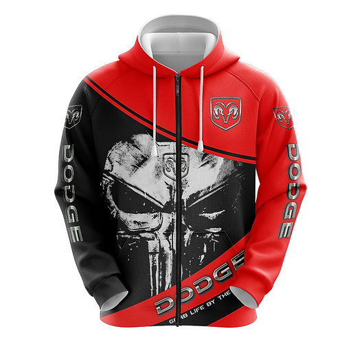 OFFICIAL-DODGE-RAM-ZIPPERED-HOODIES/CUSTOM-3D-GRAPHIC-PRINTED-PUNISHER-SKULL!!