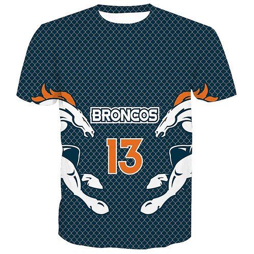 *OFFICIAL-N.F.L.DENVER-BRONCOS/NEW-3D-CUSTOM-GRAPHIC-PRINTED-TEAM/GAME-DAY-TEES*