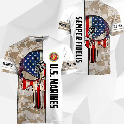 OFFICIAL-U.S.ARMY-DIGITAL-CAMO.TEE/CUSTOM-3D-GRAPHIC-PRINTED-PUNISHER-FLAG-SKULL