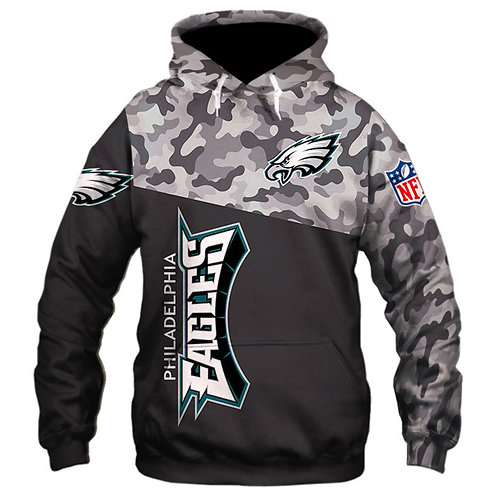 OFFICIAL-N.F.L.PHILADELPHIA-EAGLES-CAMO.DESIGN-PULLOVER-HOODIE/CUSTOM-3D-PRINTED