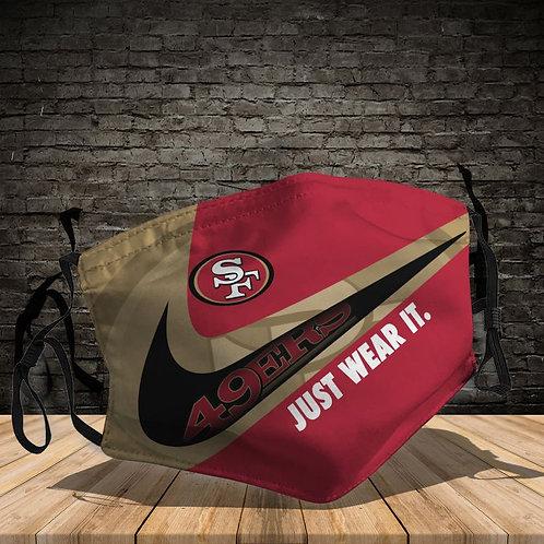 OFFICIAL-SAN-FRANCISCO-49ERS-TEAM-PROTECTIVE-FACE-MASK/CUSTOM-3D-PRINTED DESIGN!