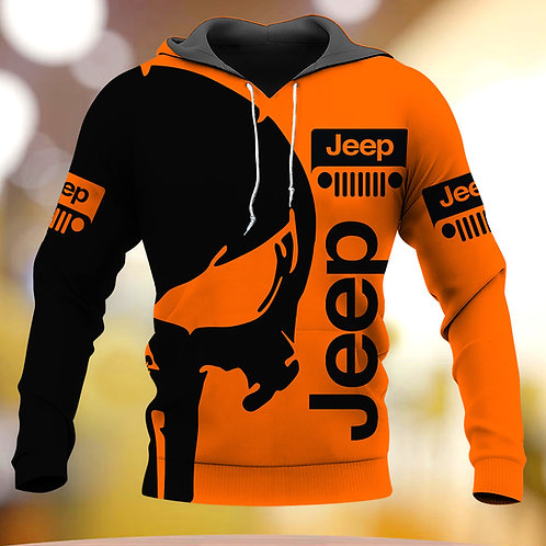 OFFICIAL-JEEP-PULLOVER-HOODIES/NEW-CUSTOM-3D-GRAPHIC-PRINTED-JEEP-PUNISHER-SKULL