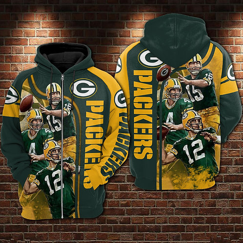 OFFICIAL-N.F.L.GREEN-BAY-PACKERS-3D-CUSTOM-HOODIES/ALL-STAR-PACKERS-TEAM-DESIGN!