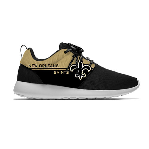 OFFICIAL-N.F.L.NEW-ORLEANS-SAINTS/NEW-LIGHT-WEIGHT-CUSHIONED-SPORT-RUNNING-SHOES