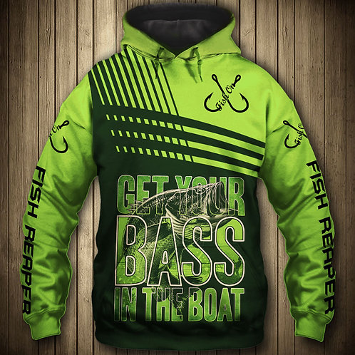 OFFICIAL-SPORT-BASS-FISHING-PULLOVER-HOODIES/CUSTOM-3D-PRINTED-THE-FISH-REAPER!!
