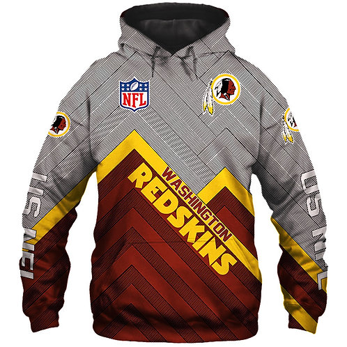 *OFFICIAL-N.F.L.WASHINGTON-REDSKINS/NEW-3D-CUSTOM-PRINTED-TEAM-PULLOVER-HOODIES*