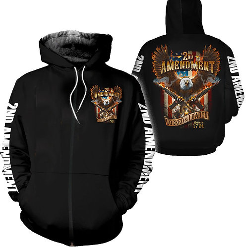 *THE-2ND-AMENDMENT-ZIPPERED-HOODIES/NEW-CUSTOM-3D-DOUBLE-SIDED-GRAPHIC-PRINTED*