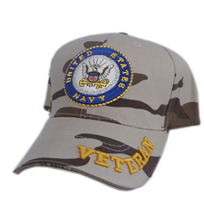 OFFICIAL-U.S.NAVY-DESERT-CAMO.VETERAN-HAT/NEW-CUSTOM-3D-GRAPHICS-U.S.NAVY-EMBLEM